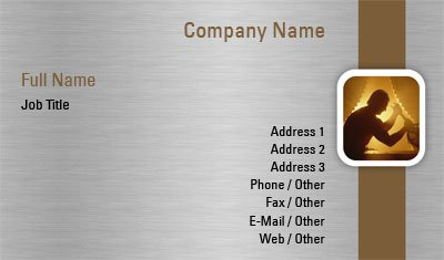 Metal Factory Business Card Template